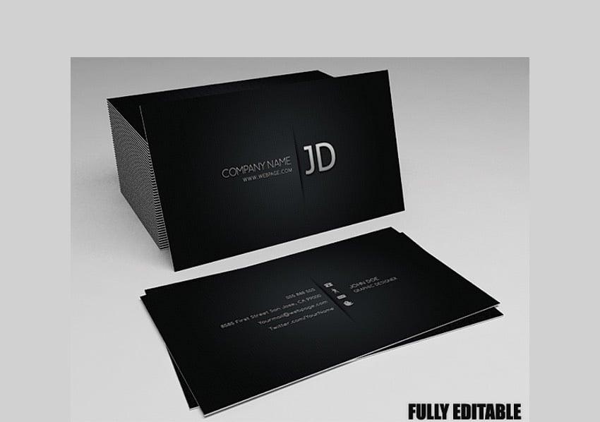 Blackish Business Card - Elegant Custom Design for a Business Card