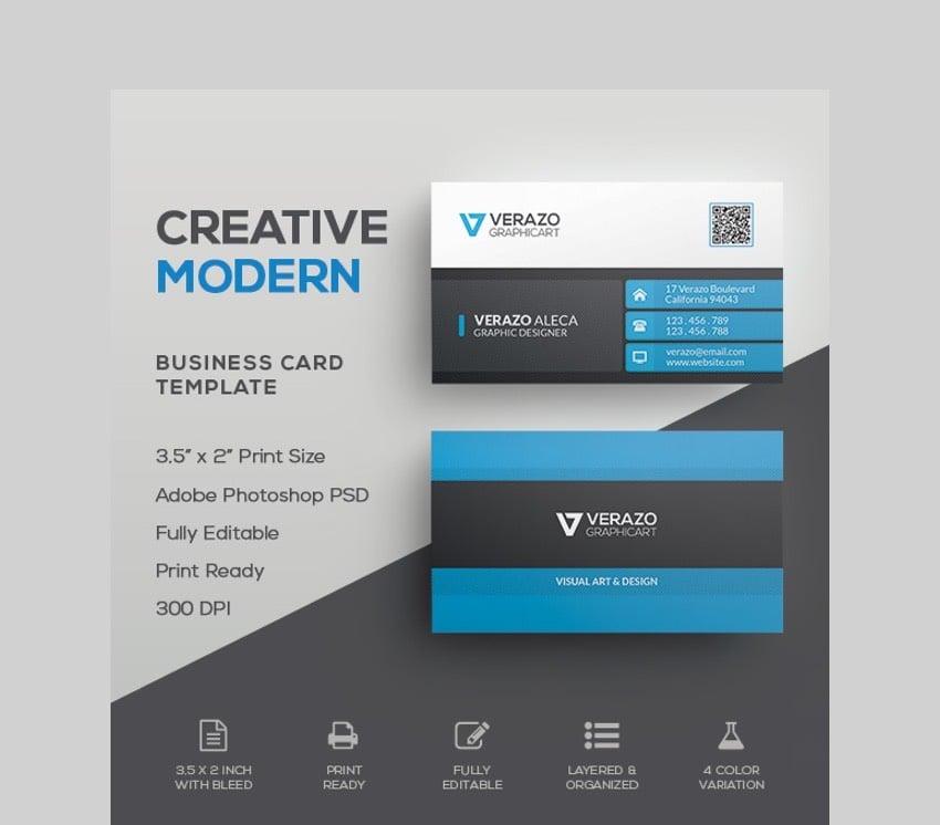 Modern Creative Business Card - Customizable Business Card Template