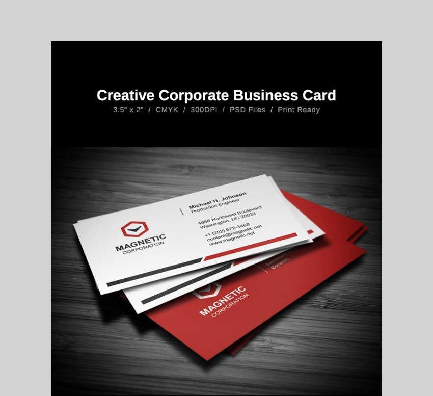 Creative Business Card - Custom Business Card Design Template