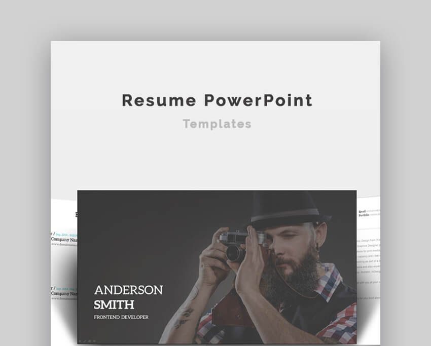 Resume - Simple PowerPoint Resume Template