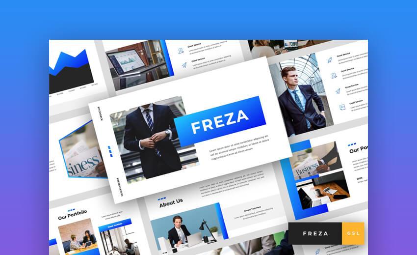 Freza Clean Google Slides Template for Pitch Decks