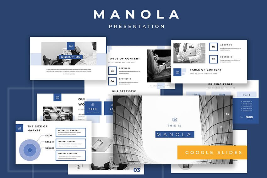 Manola Pitch Deck Google Slides