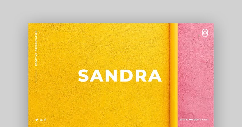 Sandra - Creative Business Google Slides Template