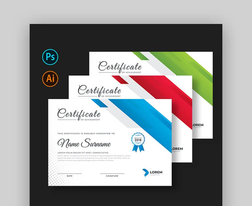 Certificate - Bold Certificate Template