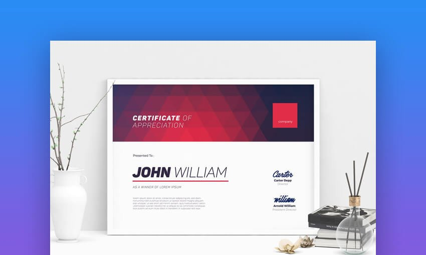 Modern Certificate 03 - Colorful MS Word Certificate Template