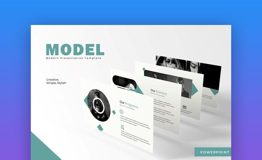 Model - Modern PowerPoint Template