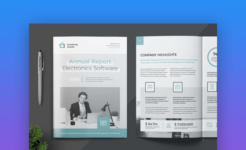 Annual Report - Modern Annual Report Template