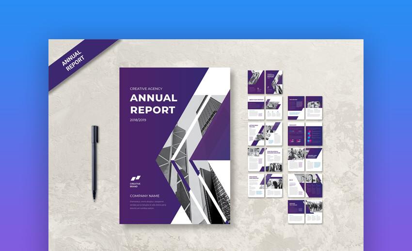 Annual Report - Creative Annual Report InDesign Template