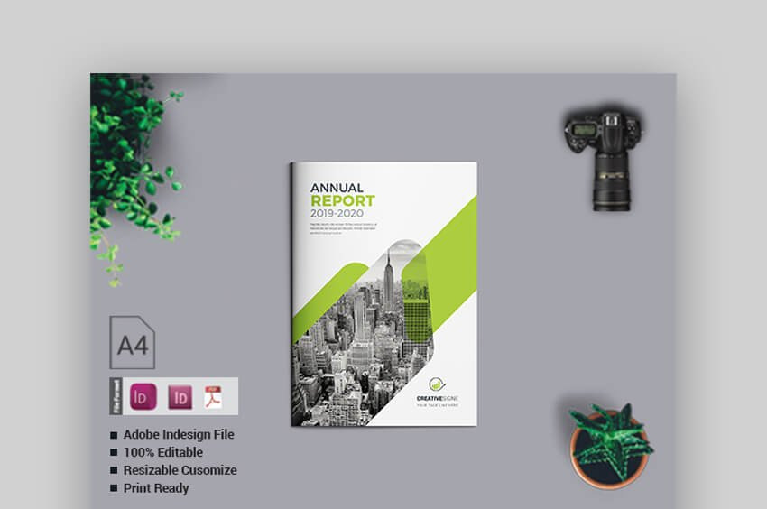 Annual Report - Clean InDesign Template
