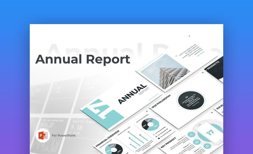 Annual Report PowerPoint - Clean Template Design
