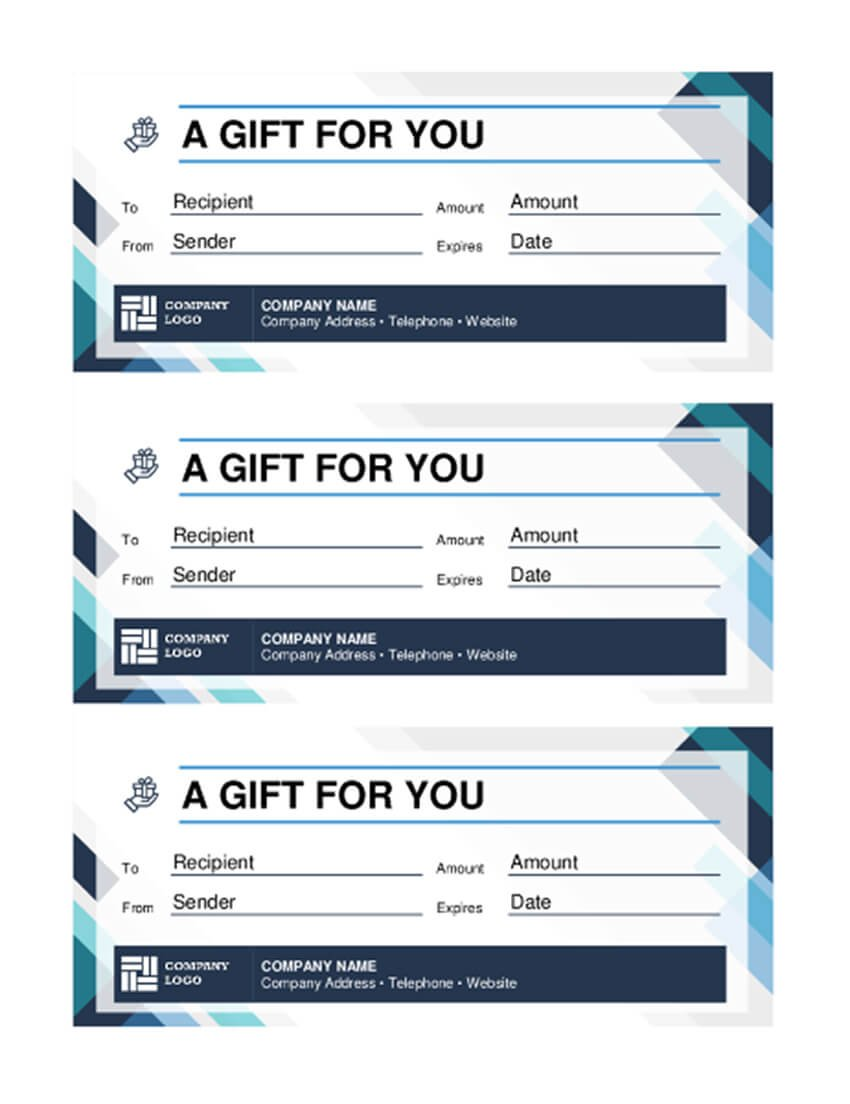 Free Word Gift Certificate Template