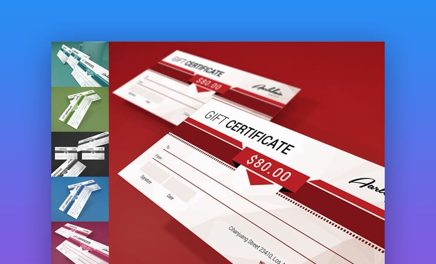 Colorful Gift Certificate - Photoshop Template