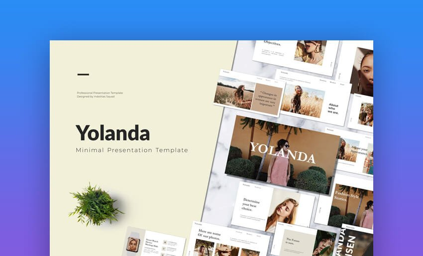 Yolanda - Minimal Google Slides Template