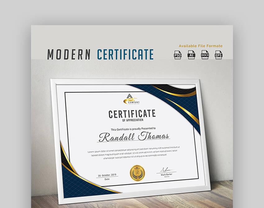 Certificate - Trendy Google Docs Certificate Template