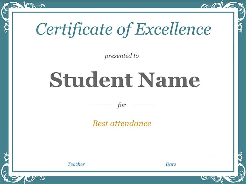 Free Google Docs Template for Student Certificate