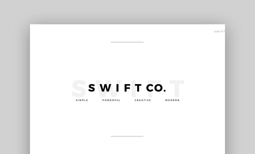 Swift - Minimal Google Slides Template