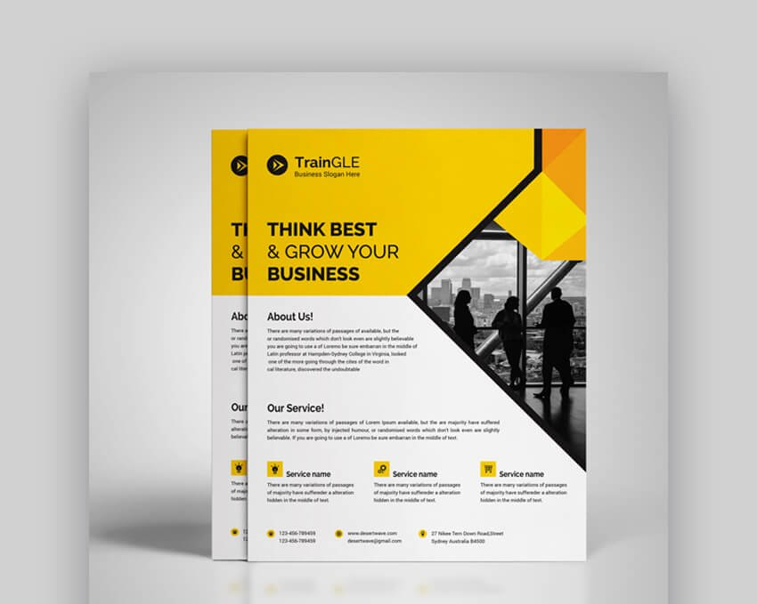 Corporate Flyer  Awesome Informational Flyer Template