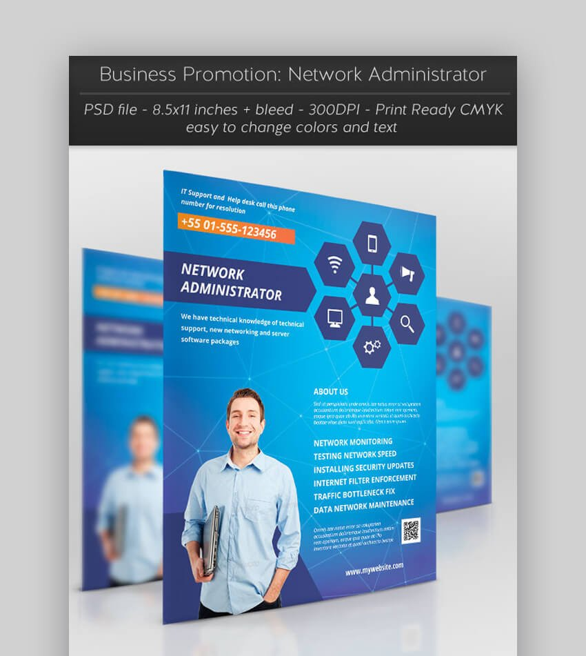 Business Promotion Network Administrator  Informational Flyer Template