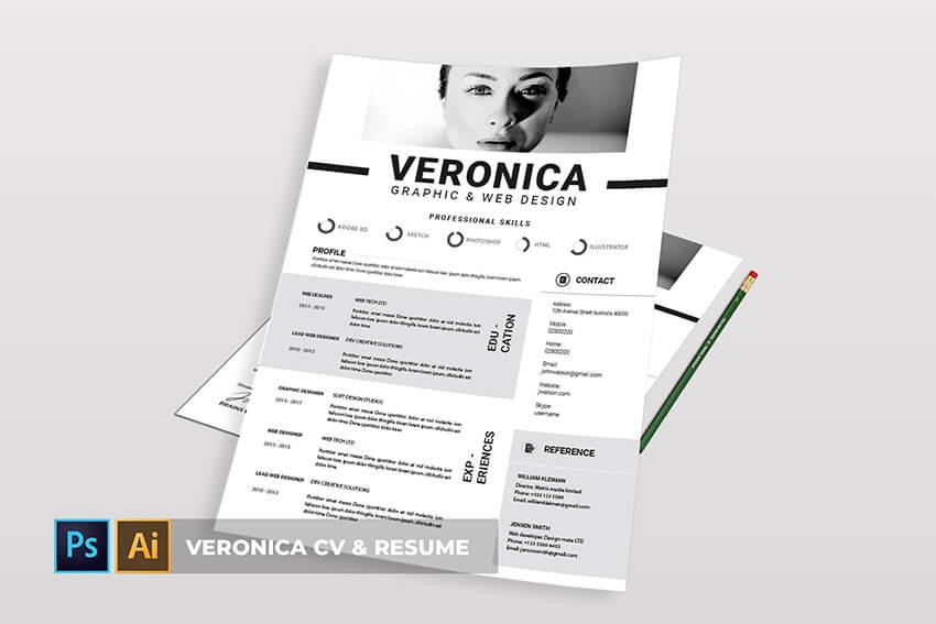 Veronica CV  Resume Template