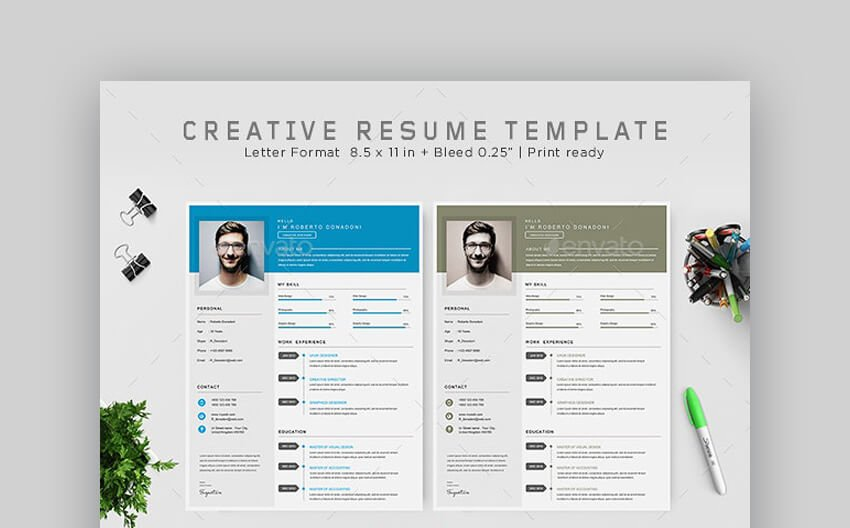 Colorful and Creative Resume