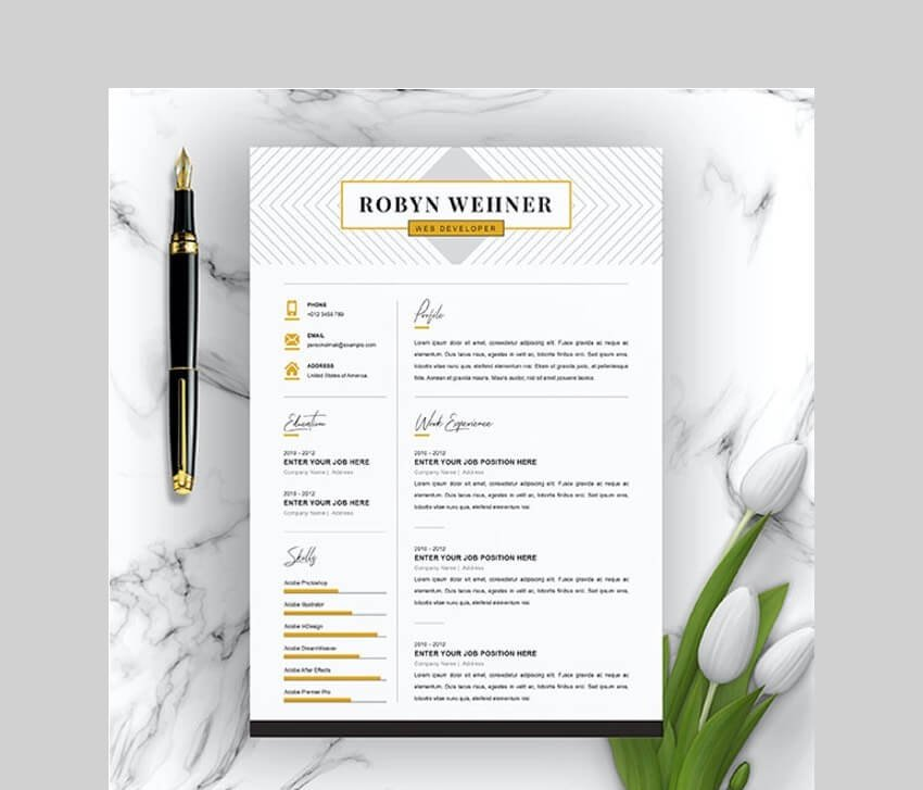 Creative and Clean Resume Template