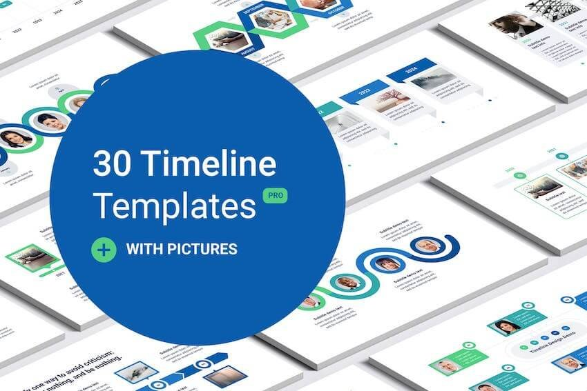 Timeline With Images PowerPoint Template
