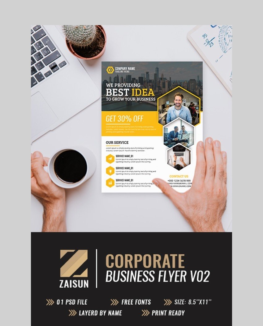 Corporate Business Flyer Vol 02- Modern Flyer Template