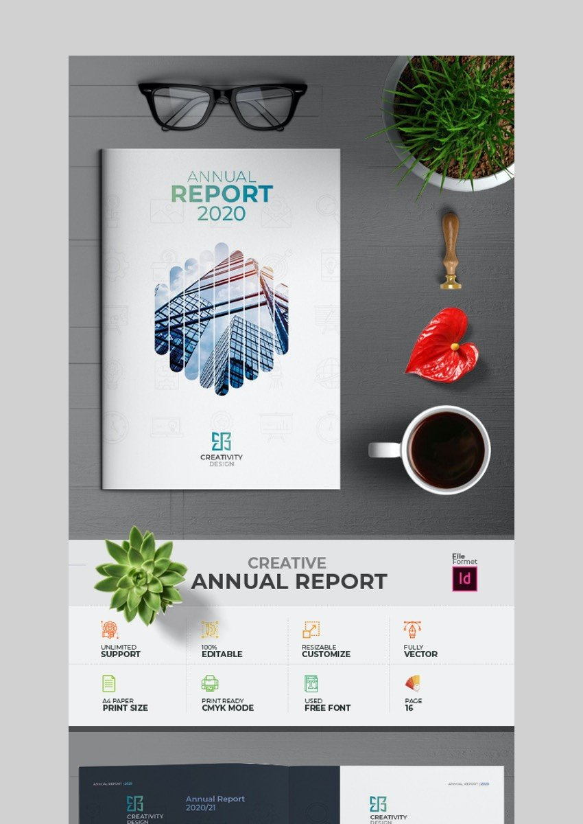 Annual Report Brochure - Photoshop Brochure Template