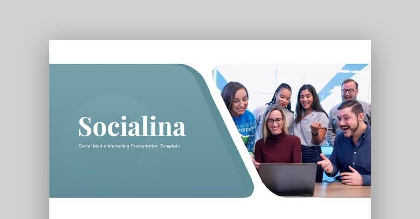 Socialina - Social Media Marketing PowerPoint Template