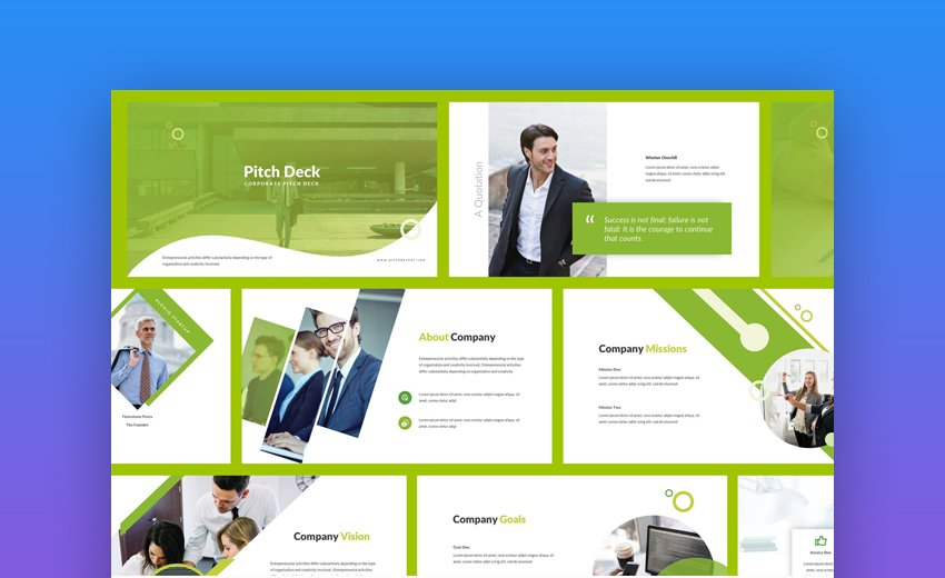 Pitch Deck - Clean PowerPoint Pitch Deck Template