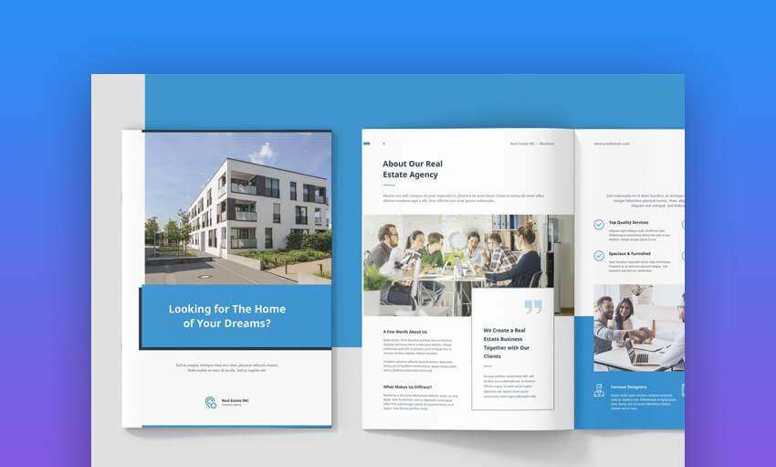 Real Estate InDesign Brochure Template