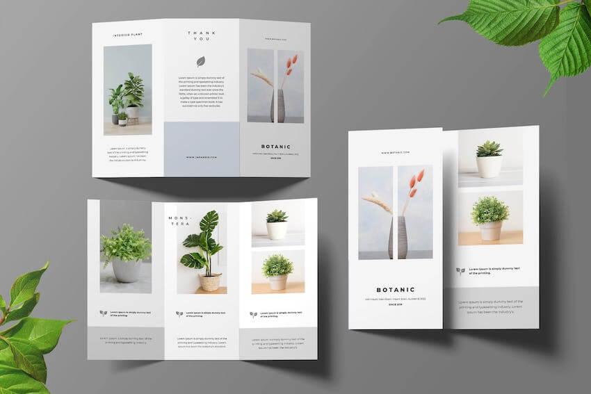 Botanical InDesign Brochure Template