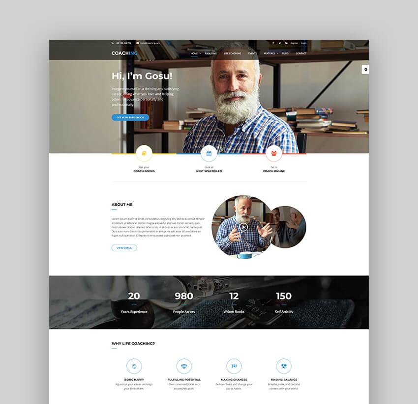 Colead Speaker and Coaching WordPress Theme