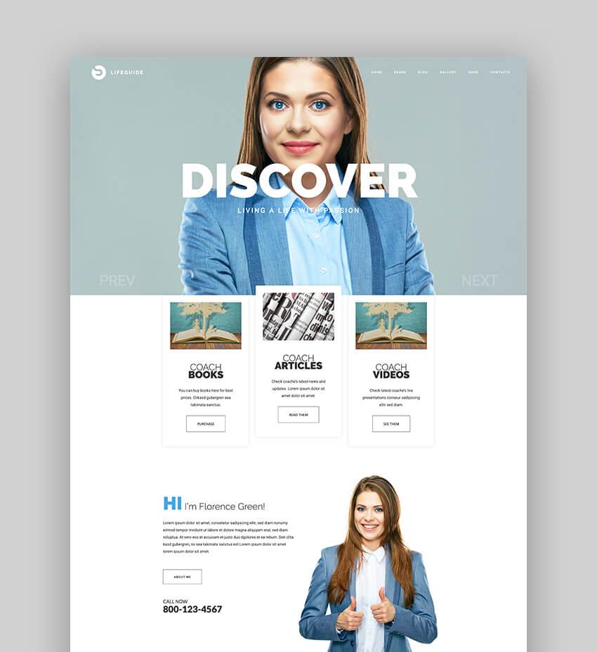 LifeGuide - Public Speaker  Life Coach WordPress theme