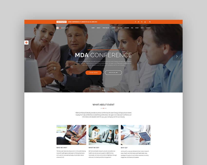Meetup - Conference Event Speaker WordPress Theme