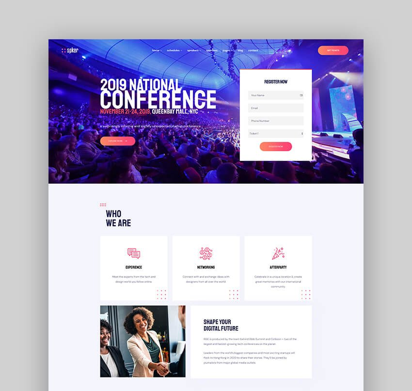 Spker - Conference And Event WordPress Theme
