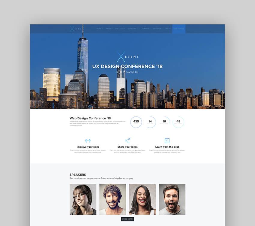 XEvent - Event And Speaker WordPress Theme