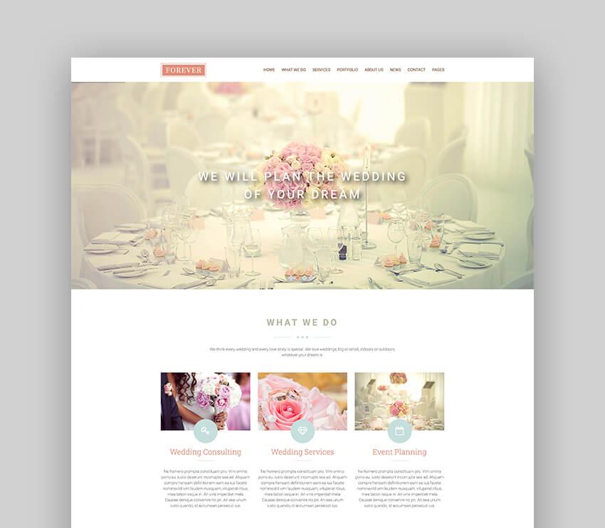 Forever - Wedding Couple Planner Agency WordPress Theme