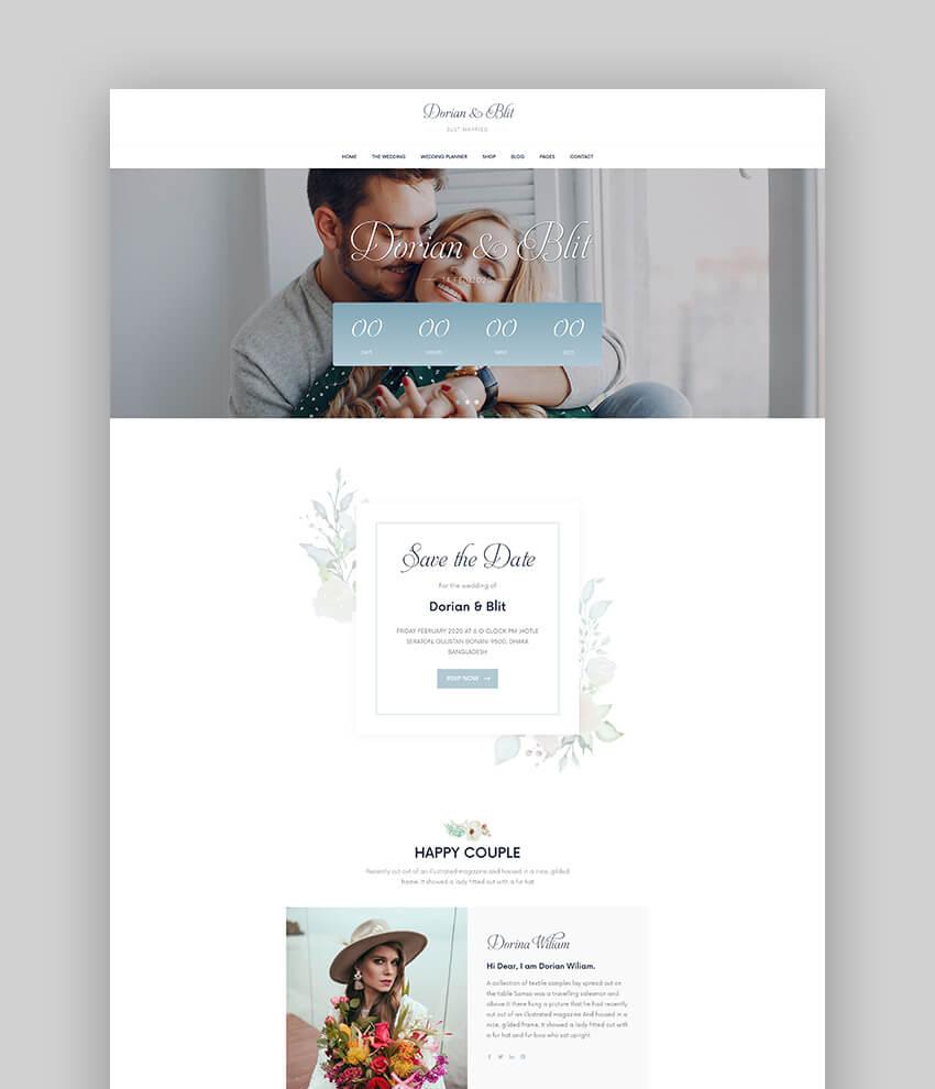 Jolly - Wedding Invitation  Planner WordPress Theme