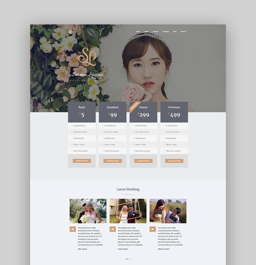 Lovus - Graceful Wedding Planner WordPress Theme