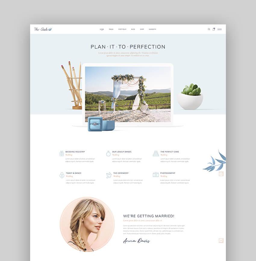 The Aisle - Elegant Wedding Planner WordPress Theme