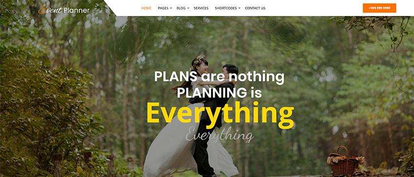 Utsav Event Planner - Free WordPress Theme