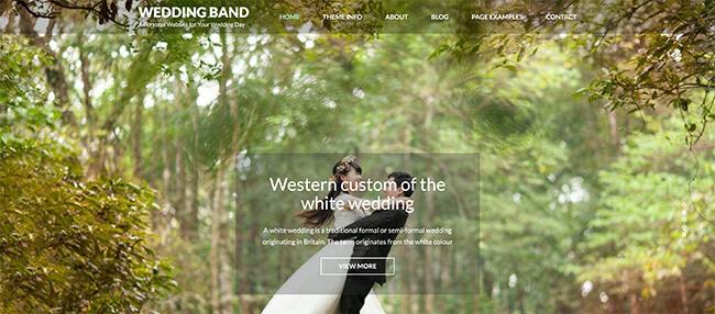 Wedding Band - WordPress Free Theme