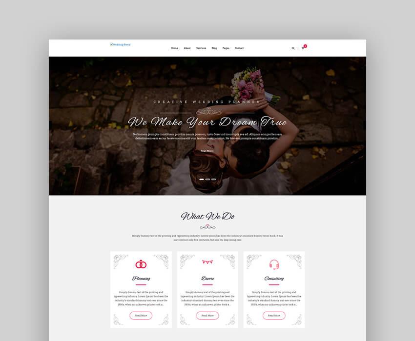 Wedding Reval - Planner  Agency WordPress Theme