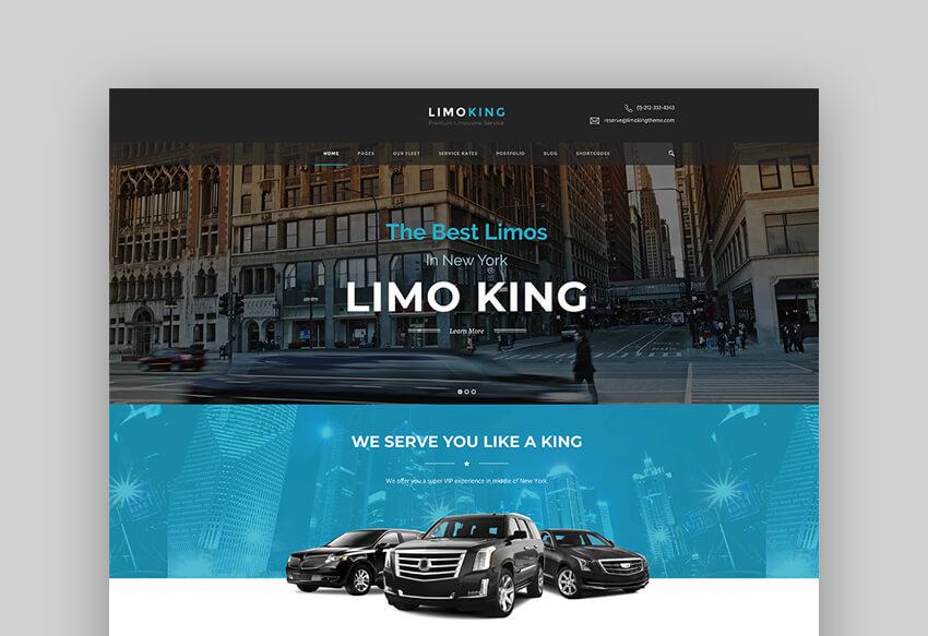 Limo King - Limo And Taxi Template For WordPress