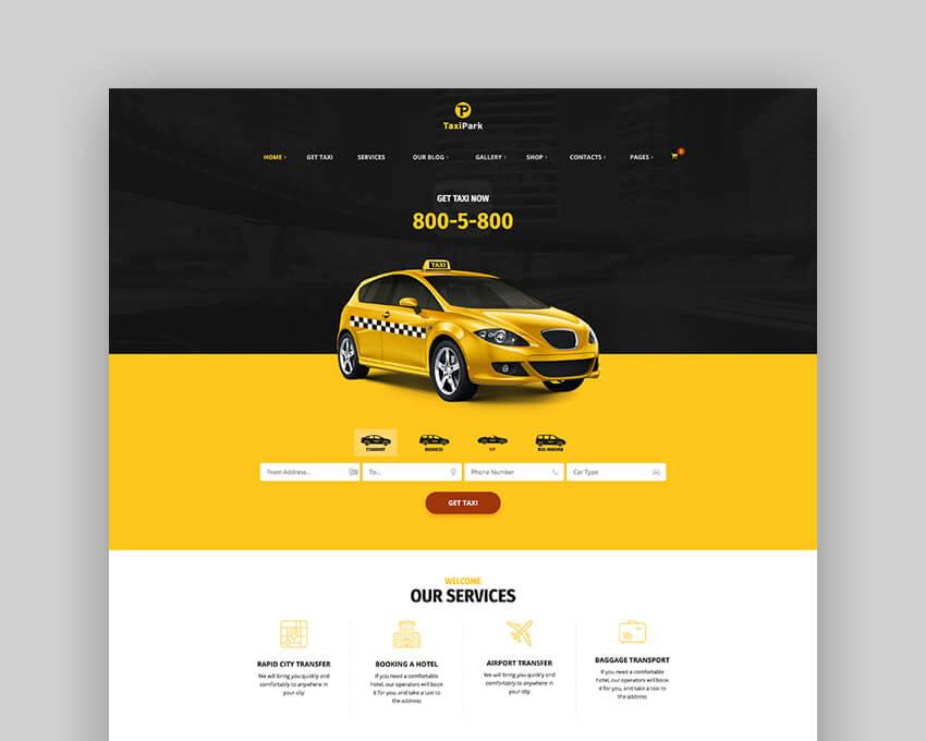 TaxiPark Taxi Template WordPress