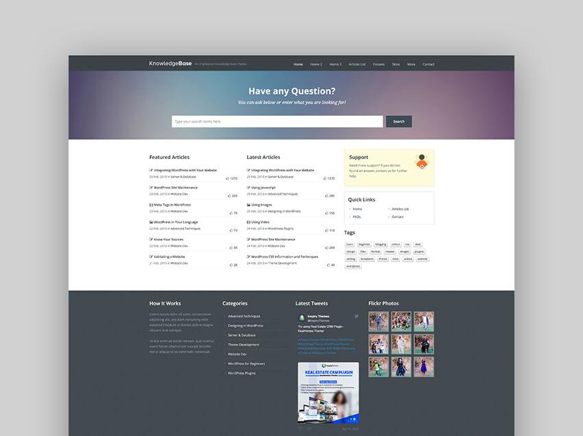 Knowledge Base - A Forum WordPress Theme