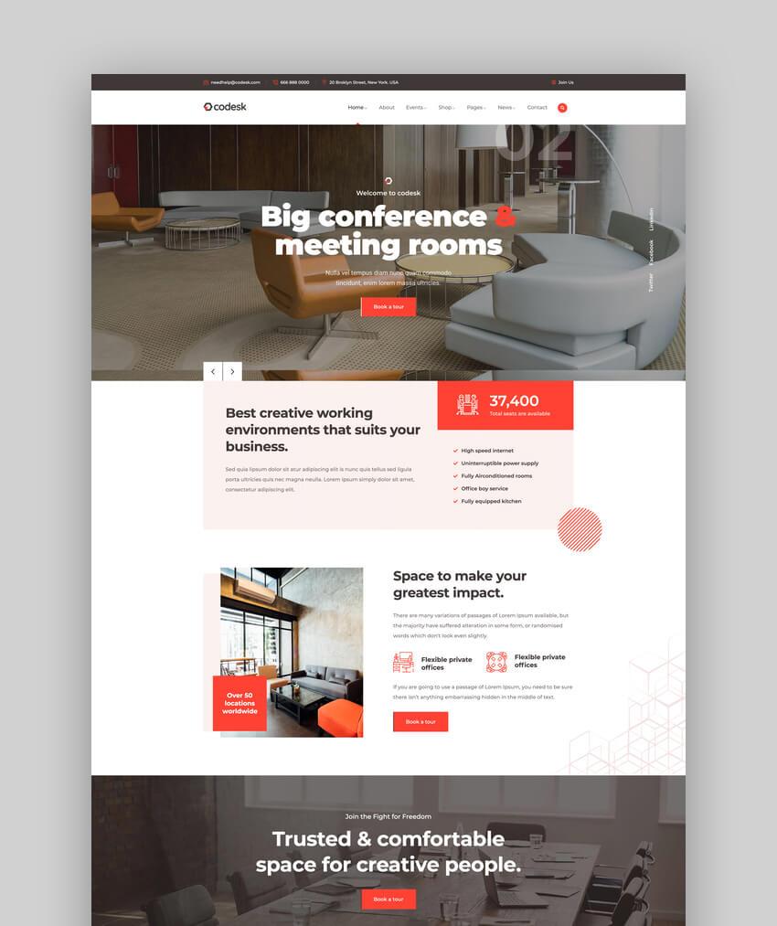 Codesk - Creative Office Space WordPress Theme