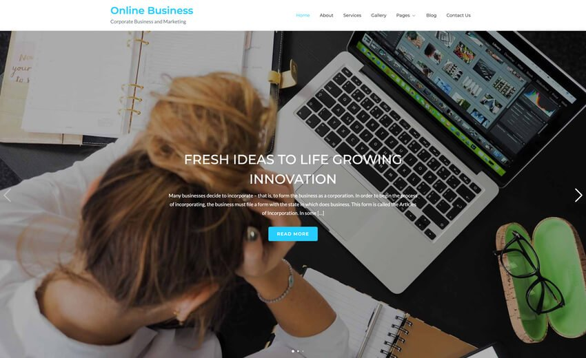 Online Business Coworking Co Creative Space WordPress Theme Free Download