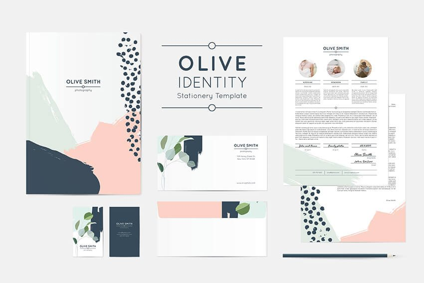 Natural brand identity package example